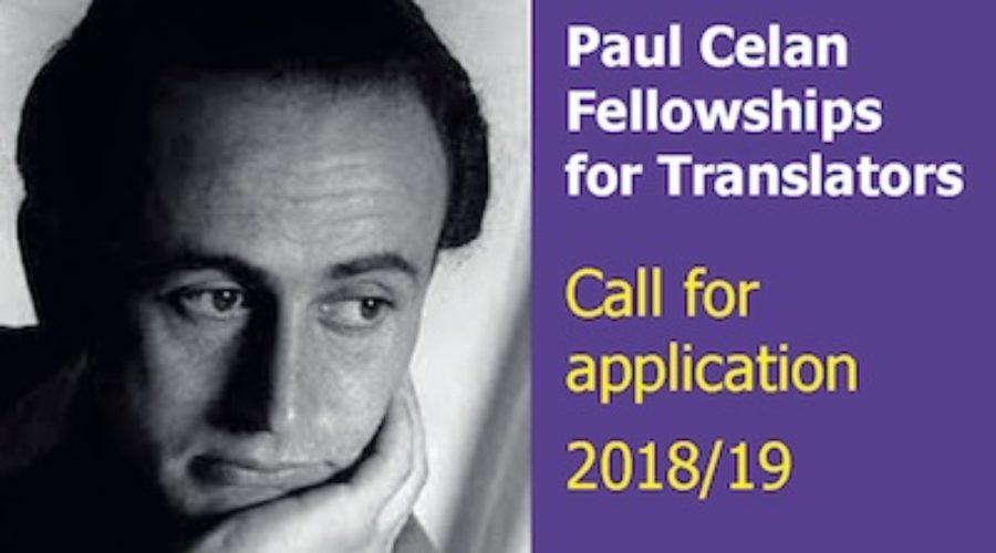 Bourses de traduction Paul Celan 2018/19 : appel à candidatures