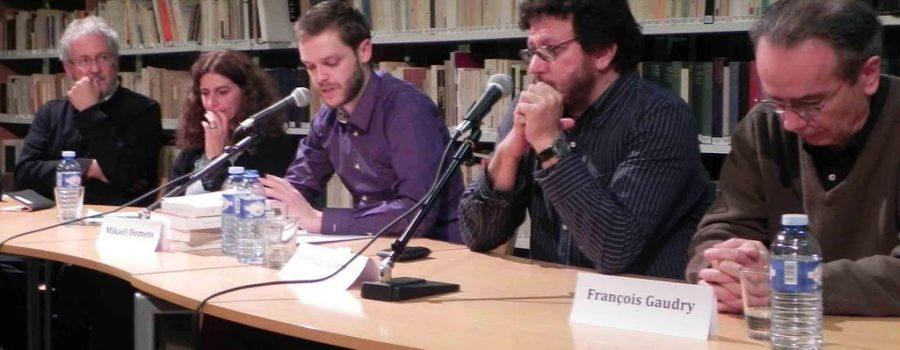 Les Belles Étrangères Colombie avec Santiago Gamboa et Héctor Abad Faciolince et leurs traducteurs François Gaudry et Anne Proenza, présentés par Mikaël Demets