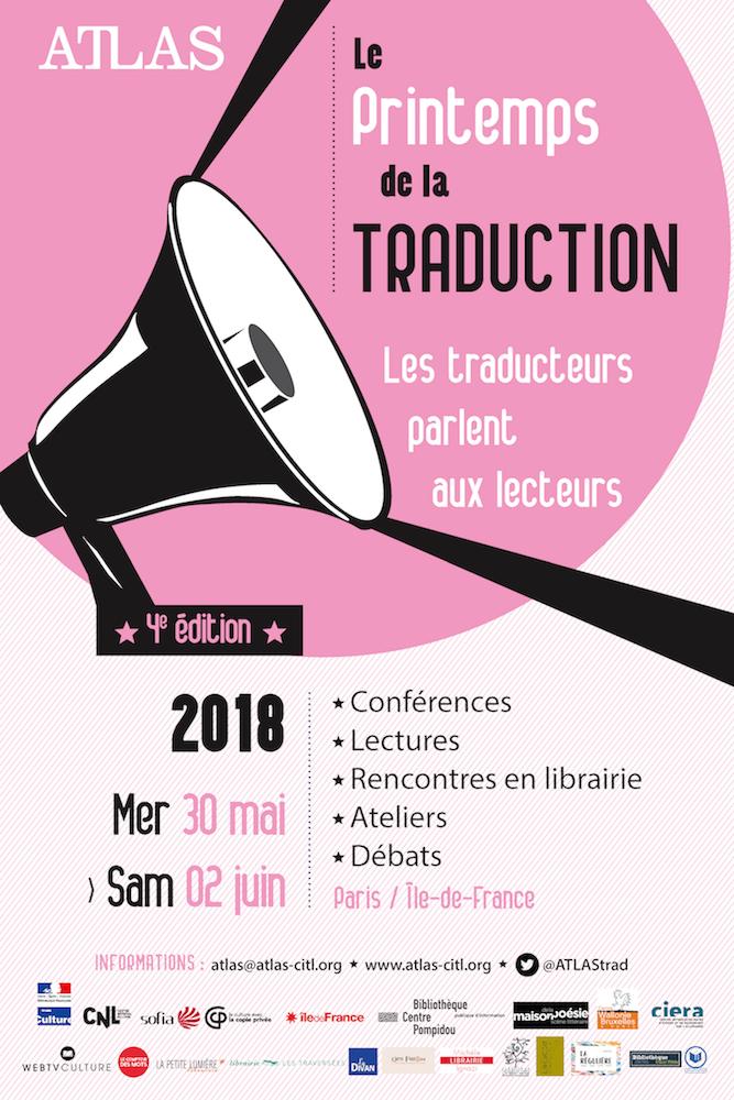 9d71b1e17bb Le Printemps de la Traduction • 4e édition – ATLAS (Association pour la  promotion de la traduction littéraire)