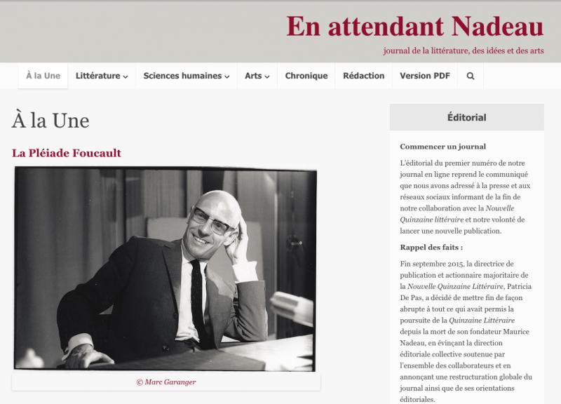 Communiqué : Fin d'une collaboration, début d'un journal : <em>En attendant Nadeau</em>