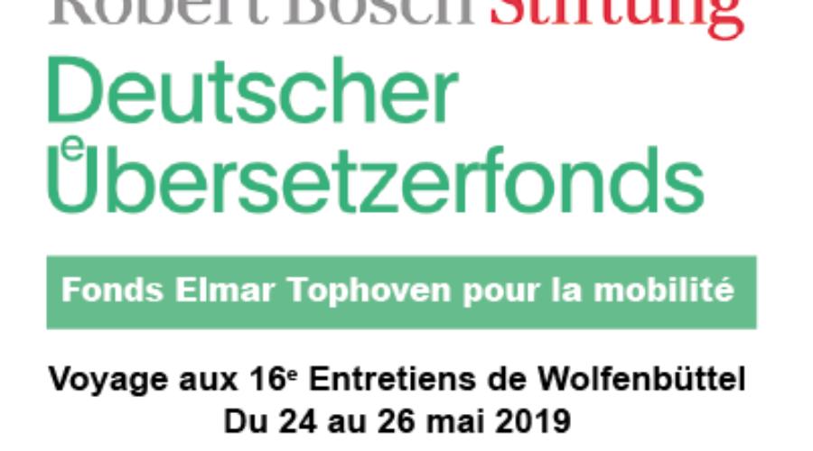 Appel à candidatures pour un voyage aux 16es Entretiens de  Wolfenbüttel (du 24 au 26 Mai 2019)
