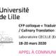 Un appel à communication pour le colloque «Traduire le culinaire / Culinary Translation» •Université de Lille – 18 > 20 mars 2020
