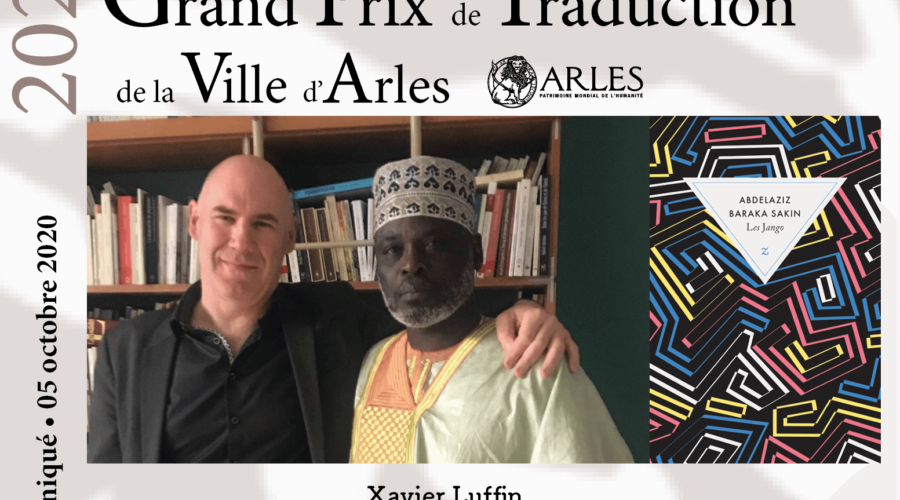 Xavier Luffin, lauréat du Grand Prix de traduction de la Ville d'Arles 2020